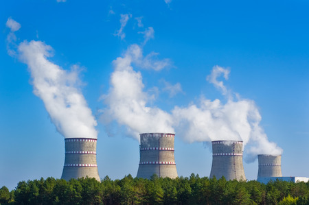 cooling towers: Cooling towers of nuclear power plant