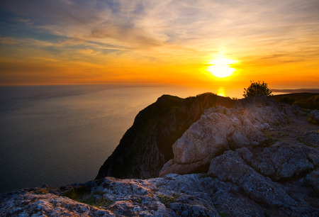 hight: Sunset from hight mountains