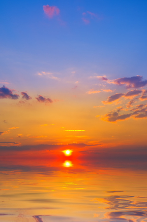 Sunset on the sea in summer time Archivio Fotografico - 96392822