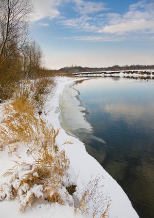 Winter river in January Archivio Fotografico - 96379185