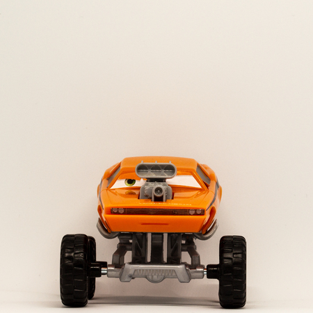 Gifts that can be found in an Easter egg. A four-wheel-drive vehicle in a children's toy version.