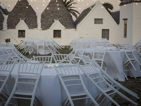 Wedding day in Martina Franca, a rustic place surrounded by greenery in southern Italy. Reklamní fotografie