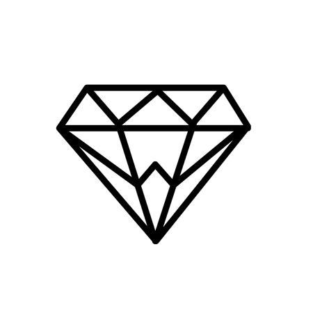 Diamond icon illustration Çizim