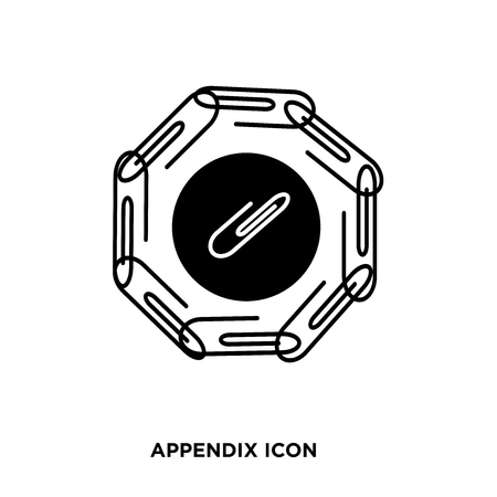 appendix icon vector