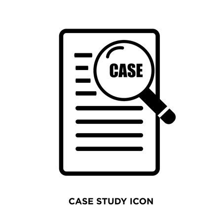 case study icon Stock Photo