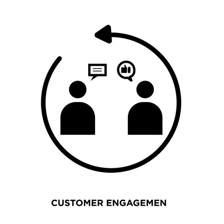 customer engagement icon Foto de archivo - 96526696