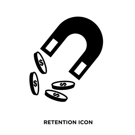 retention icon vector