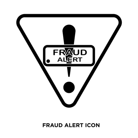 fraud alert icon Illustration