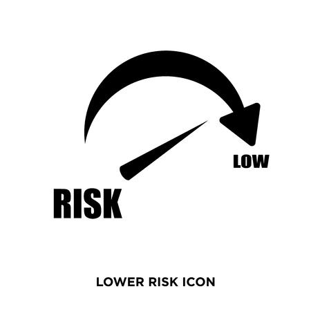 Lower risk icon Фото со стока - 96235768