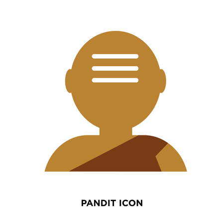 A pandit icon vector Illustration