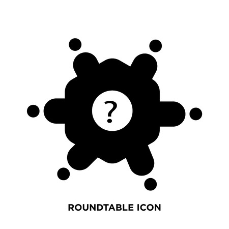 Roundtable icon vector