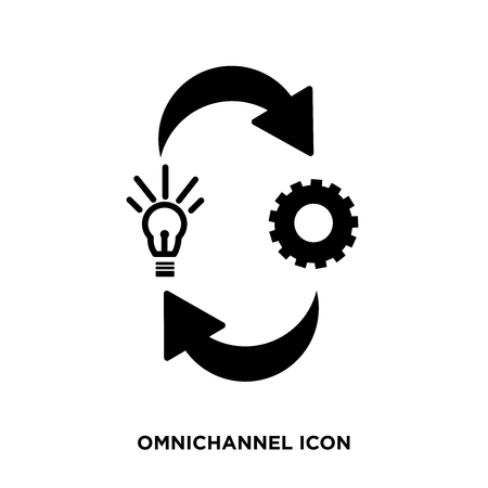 Omnichannel icon vector