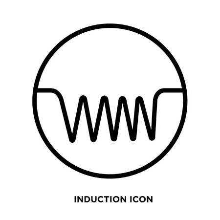 Induction icon vector Vettoriali