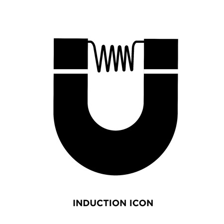 Induction icon vector Illustration