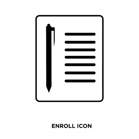 Enroll icon vector