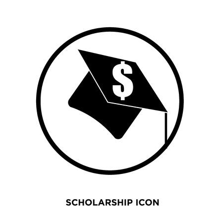 A scholarship icon vector