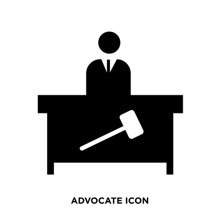 Advocate icon vector