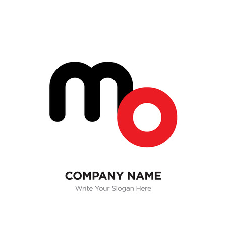 Abstract letter mo or om logo design template, Black Alphabet initial letters company name concept. Flat thin line segments connected to each other Ilustração