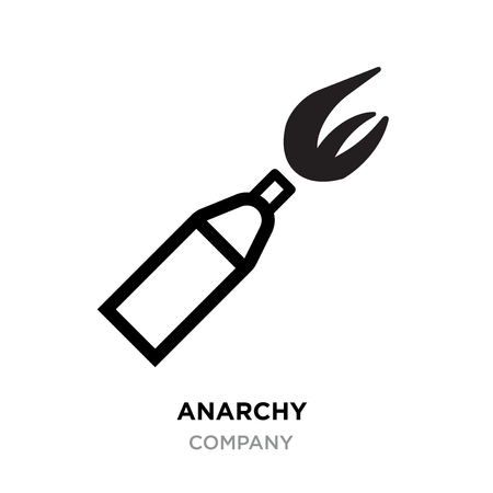 Anarchy logo, emblem of arbitrariness and lack of state power. Antisocial icon Illustration