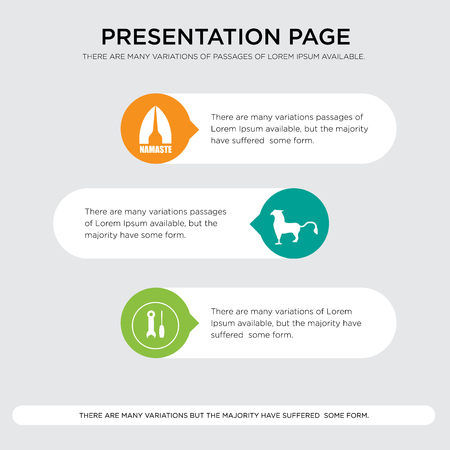 Presentation design template with horizontal and rounded shapes Vettoriali