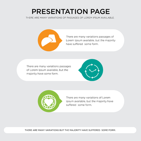 Presentation design template with horizontal and rounded shapes Ilustrace