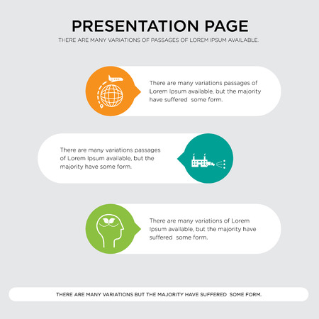 peace of mind, distributor, interstate presentation design template in orange, green, yellow colors with horizontal and rounded shapes