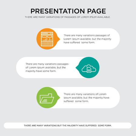 Presentation page design template illustration.