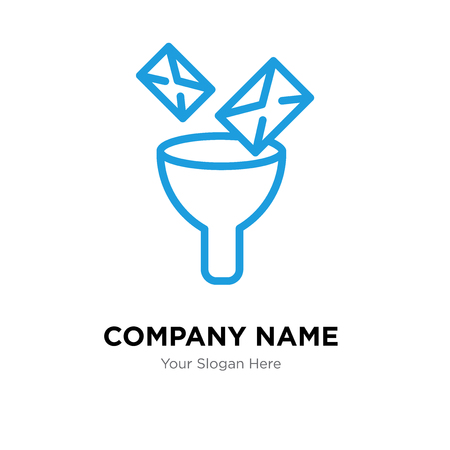 Mail Funneling company logo design template, Business corporate vector icon