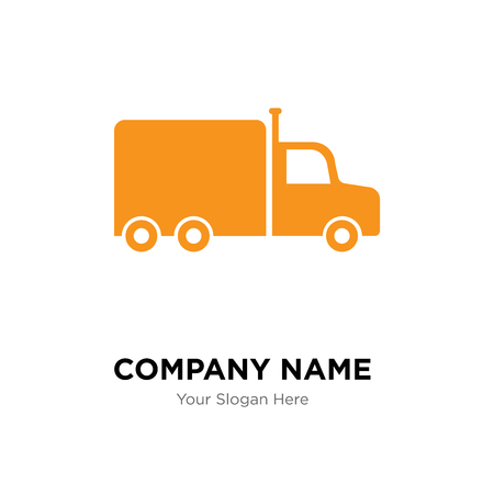 Frontal truck company logo design template, Business corporate
