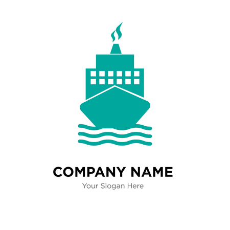 Boat from front view company logo design template, Business corporate vector icon