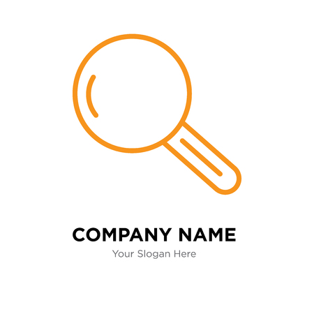 Magnifying glass company logo design template, Business corporate vector icon