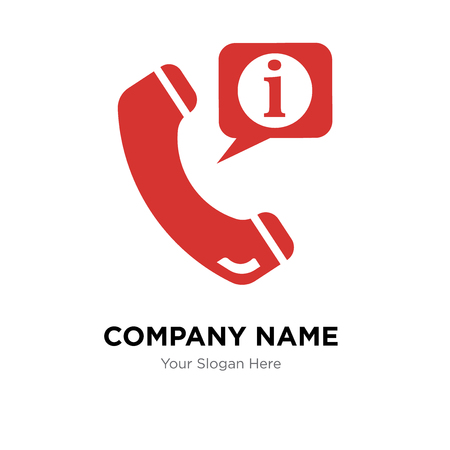 Call center service for information company logo design template, Business corporate vector icon