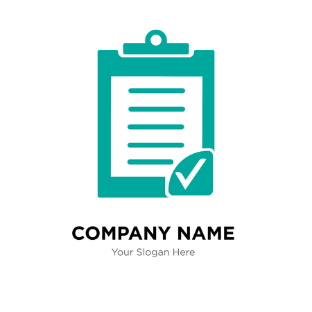Clipboard verification company logo design template, Business corporate vector icon