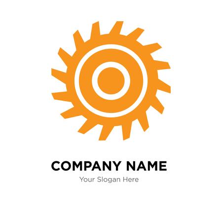 saw blade company logo design template, Business corporate vector icon