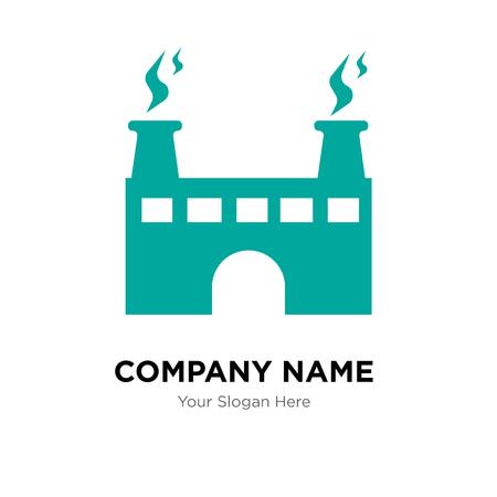 factory company logo design template, Business corporate vector icon