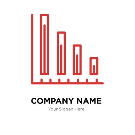 Variable bars data company logo design template, Business corporate vector icon