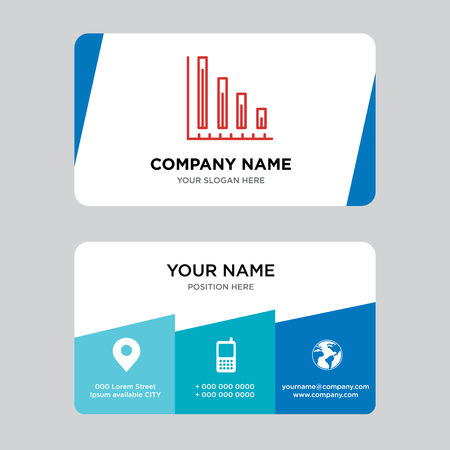 Variable bars data business card design template, Visiting for your company, Modern Creative and Clean identity Card Vector Illustration