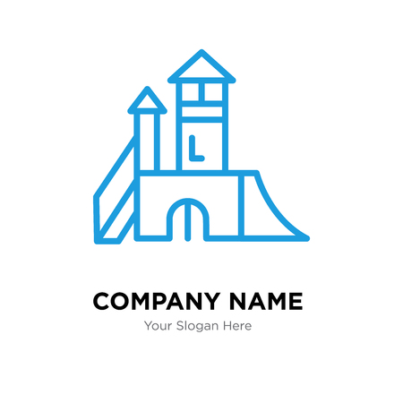 Playground company logo design template, Business corporate vector icon