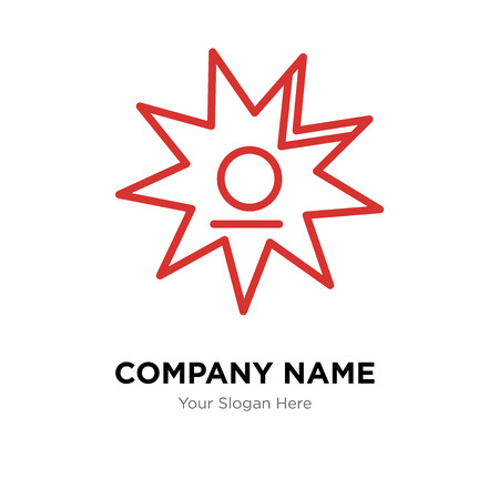 Walk of fame company logo design template, Business corporate vector icon