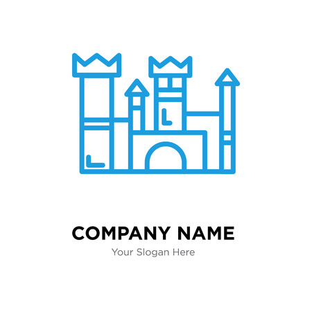 Icon design template of a castle, business corporate vector icon. 矢量图像