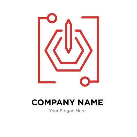 Power button company logo design template, Business corporate vector icon