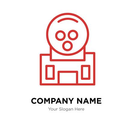 Gum company logo design template, Business corporate vector icon Stock Illustratie