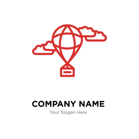 Hot air balloon company logo design template, Business corporate vector icon