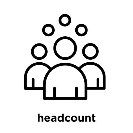 headcount icon isolated on white background, vector illustration 일러스트