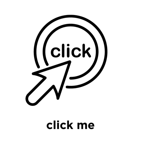 click me icon isolated on white background, vector illustration