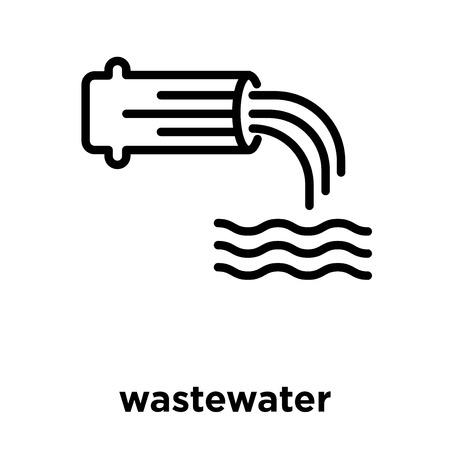 wastewater icon isolated on white background, vector illustration