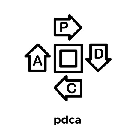 pdca icon isolated on white background, vector illustration Illustration