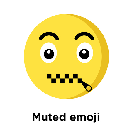 Muted emoji icon isolated on white background, vector illustration  イラスト・ベクター素材