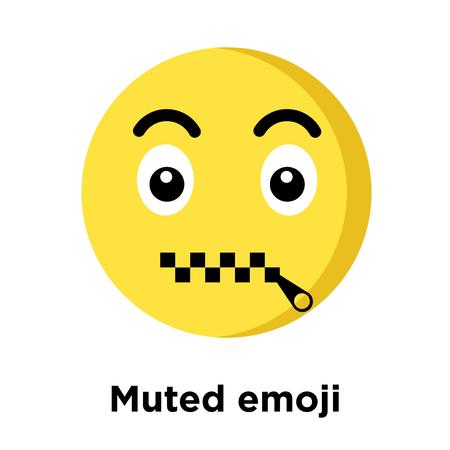 Muted emoji icon isolated on white background, vector illustration Ilustracja