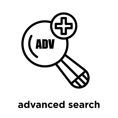 advanced search icon isolated on white background, vector illustration